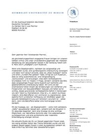 Brief von Sabine Blackmore an die ARD