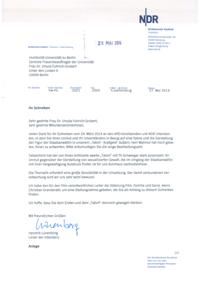 Antwort der ARD an Sabine Blackmore und Unterzeichner*innen