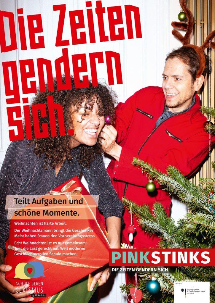 """Festtagskampagne 2019 """"Die Zeiten gendern sich"""", Copyright Pinkstinks, Foto Markus Abele"""