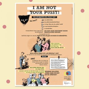 """Poster """"I am not your pussy"""""""