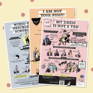 3er-Set Poster zu Sexismus