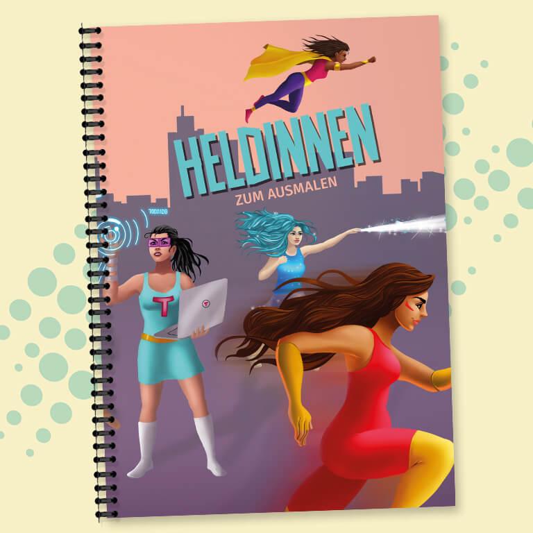 Buch: Heldinnen zum Ausmalen - Pinkstinks Germany